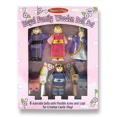 Melissa and Doug Royal Family Wooden Doll Set