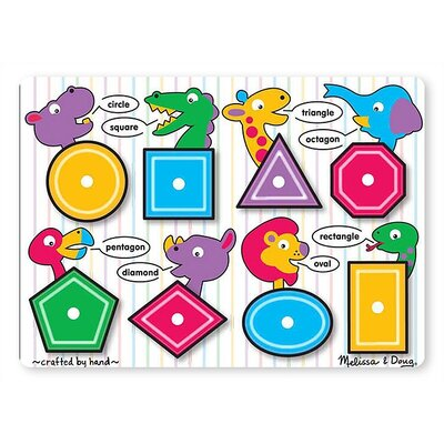 Melissa and Doug Shapes Peg Puzzle