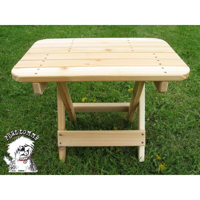 Western Red Cedar Folding Side Table