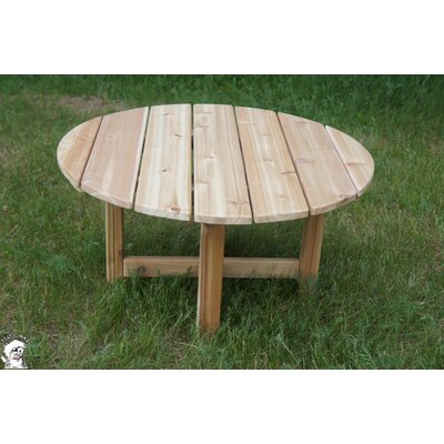 Phat Tommy Round Folding Cedar Patio Table