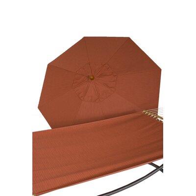 Buyers Choice 9' Sunbrella Umbrella and Quilted Hammock Combo