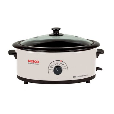 Nesco 6 Qt. Roaster Oven w / Non-Stick Cookwell in Ivory