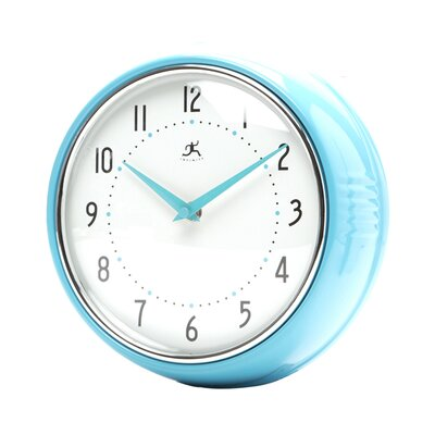 Infinity Instruments Retro Wall Clock in Turquoise