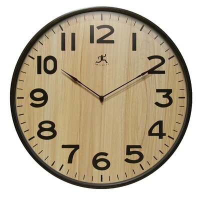 Infinity Instruments Arbor Wall Clock with Light Woodgrained Dial