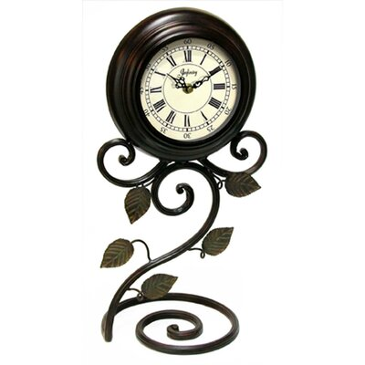Iron Perennial Table Clock