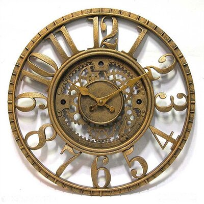 Infinity Instruments Open Dial Resin Gear Wall Clock