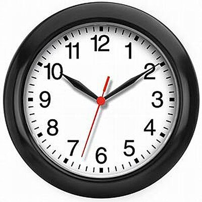 "Infinity Instruments 8"" Small Black Wall Clock"
