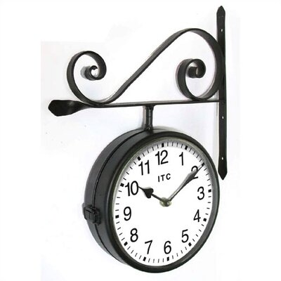 "Infinity Instruments Double-Sided 9"" Wall Clock"