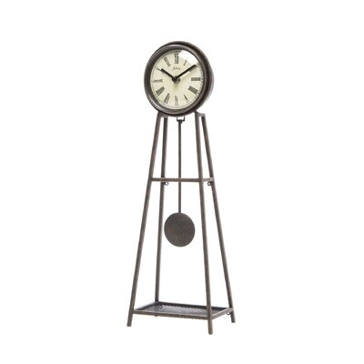 Infinity Instruments Wrought Iron Pendulum Table Clock