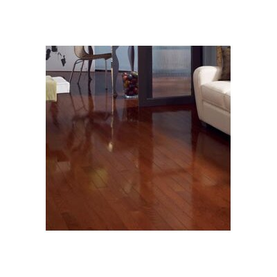 "Somerset Floors Color Strip 3-1/4"" Solid Red Oak Flooring in Cherry Oak High Glass"