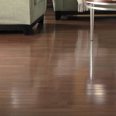 "Somerset Floors Color Plank 5"" Engineered White Oak Flooring in Metro Brown"