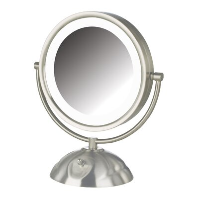 Dual Sided 8x LED Lighted Vanity Mirror