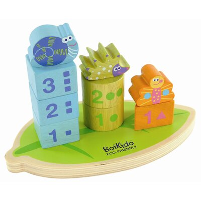 Boikido Wooden Stack & Count Shapes