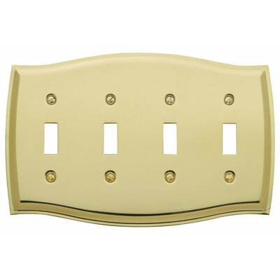 Colonial Design Quad Toggle Switch Plate