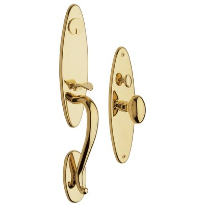 Baldwin Springfield Entrance Lock Trim in Lifetime Polished Brass