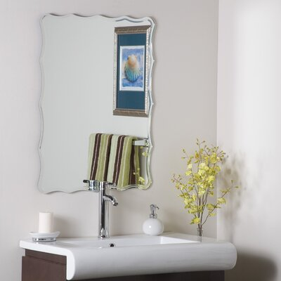 Frameless Ridge Wall Mirror