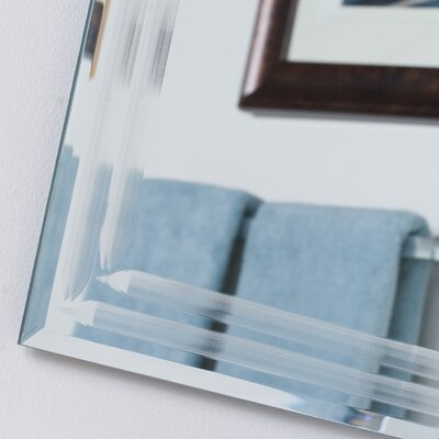 Decor Wonderland Frameless Tri Bevel Wall Mirror