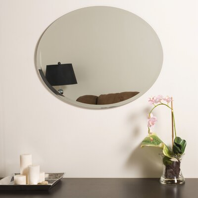 "Decor Wonderland 28"" H x 22"" W Odelia Wall Mirror"