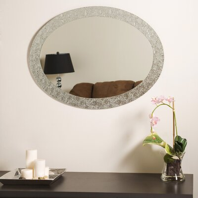 Decor Wonderland Frameless Crystal Wall Mirror