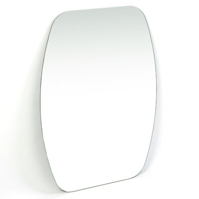 "Decor Wonderland 31.5"" H x 23.6"" W Frameless Freddie Wall Mirror"