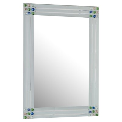 Decor Wonderland Square Bejeweled Frameless Mirror