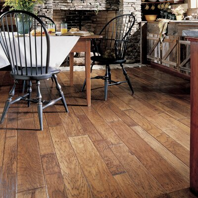 Virginia Vintage Random Width Engineered Hickory Flooring in Flintlock
