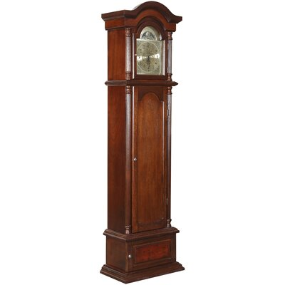 Gunfather Clock in Burnished Brown Cherry