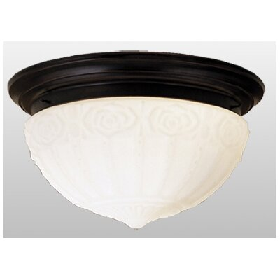 3 Light White Puffy Rose Flush Mount