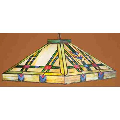 Mission Southwest Prairie 3 Light Wheat Pendant