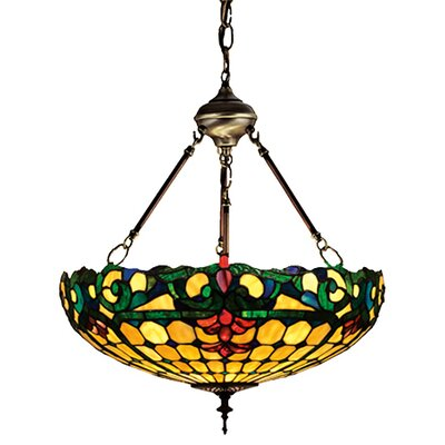 Tiffany Duffner and Kimberly Colonial 3 Light Inverted Pendant