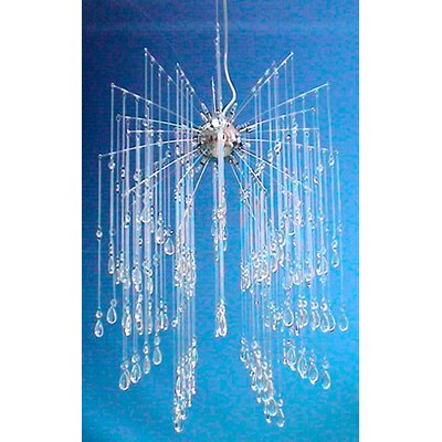 Euro Crystal 16 Light Shower Pendant