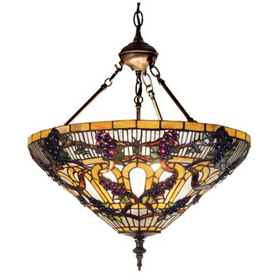 Meyda Tiffany Tiffany 3 Light Inverted Pendant