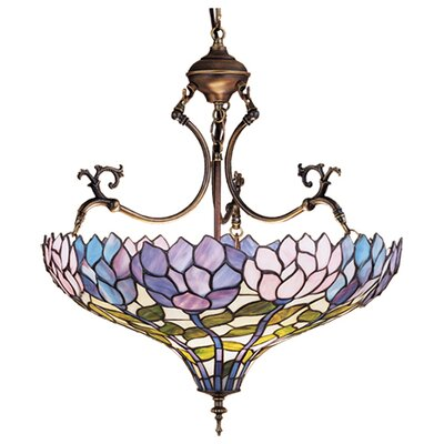 Tiffany Wisteria 3 Light Inverted Pendant