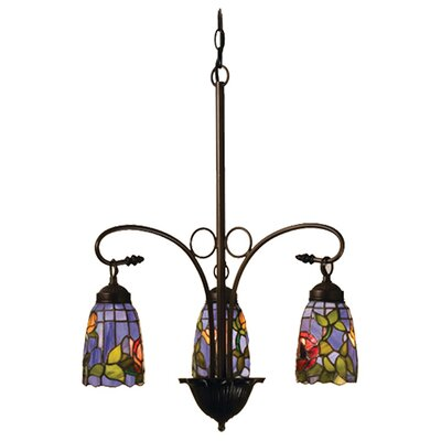 Meyda Tiffany Tiffany Rosebush 3 Light Chandelier