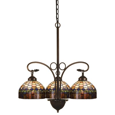 Victorian Tiffany Candice 3 Light Chandelier