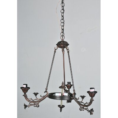 Meyda Tiffany Victorian Foral 5 Light Arm Chandelier