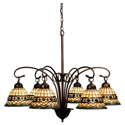 6 Light Tiffany Roman Chandelier