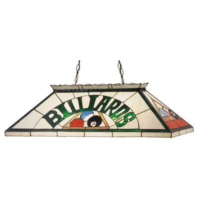 Meyda Tiffany Billiard and Rack 6 Light Pendant
