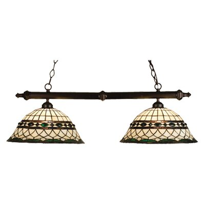 Tiffany Roman 2 Light Kitchen Island Pendant