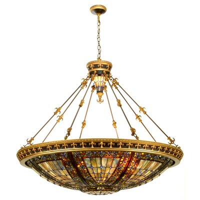 Meyda Tiffany 10 Light Inverted Pendant