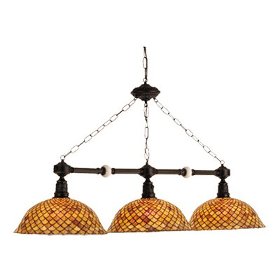 Tiffany Fishscale 3 Light Kitchen Island Pendant