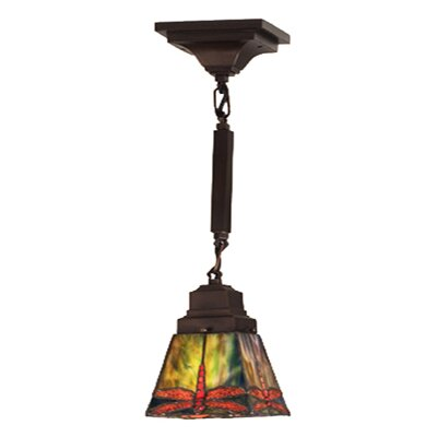 Mission Stickley Prairie Dragonfly 1 Light Mini Pendant