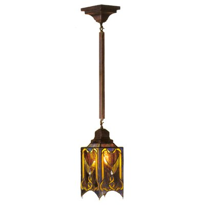 Cottage Mission 1 Light Mini Pendant