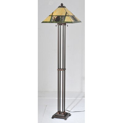 Meyda Tiffany Pinecone Ridge Floor Lamp