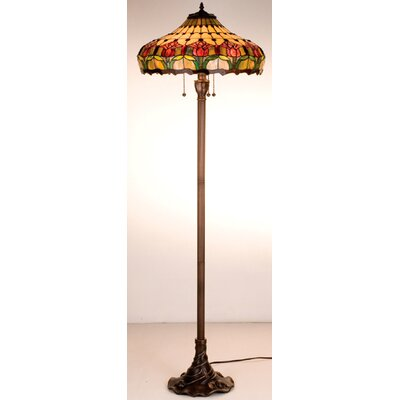 Meyda Tiffany Tiffany Colonial Tulip Floor Lamp