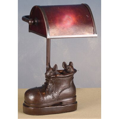 Meyda Tiffany Mica Banker Mice in Shoe Accent Lamp