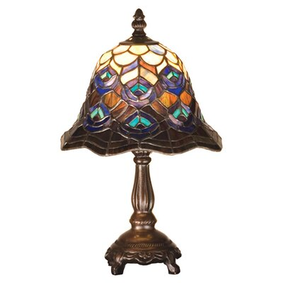 Meyda Tiffany Tiffany Peacock Feather Mini Table Lamp