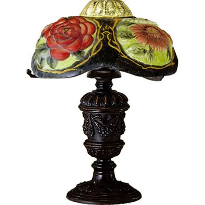 Meyda Tiffany Puffy Oxford Floral Table Lamp
