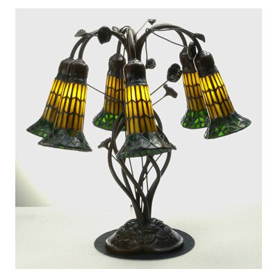 Meyda Tiffany Tiffany Pond Lily 6 Light Table Lamp