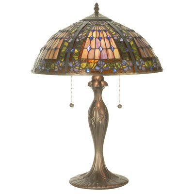 Meyda Tiffany Victorian Tiffany Gothic Fleur-De-Lis Table Lamp
